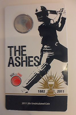 The Ashes 2001 20 cent coin. Unc.