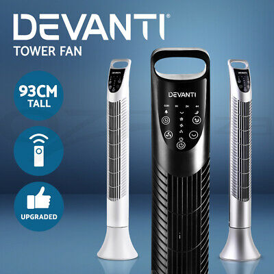 Devanti Tower Fan Remote Control Portable Cross Flow Touch Panel Sleep Mode