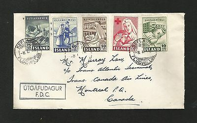 D86) Iceland B7-B11 First Day Cover