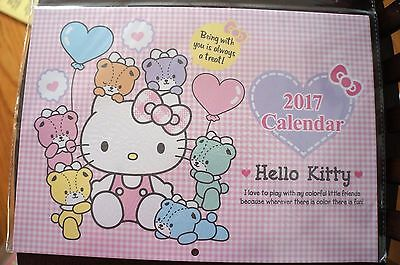 Authentic Sanrio 2017 Hello Kitty Wall Calendar from Japan Free Ship from US