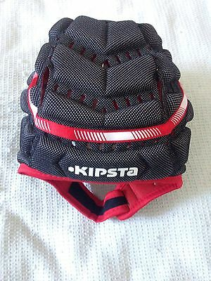 Xmas Gift !! Protective Footy Headgear Sz L Bnwt Irb Approved Black/red Trim