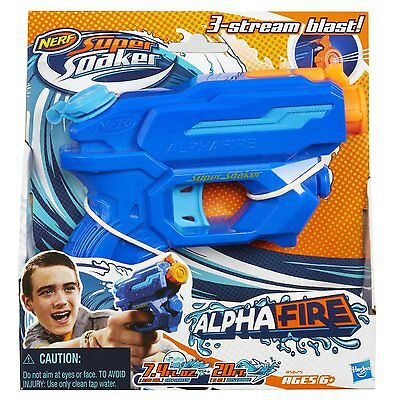 Brand New NERF Super Soaker ALPHAFIRE Blaster ~ Mini Water Pistol ALPHA FIRE