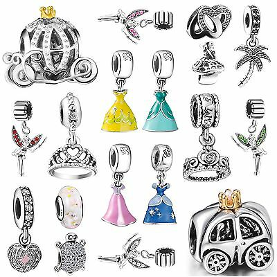 European Silver Charms Bead Fit Fashion sterling Genuine 925 Bracelets Necklace