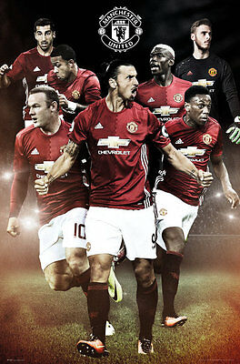 Manchester United FC Poster - Players 16/17 - New Man Utd Football poster SP1376
