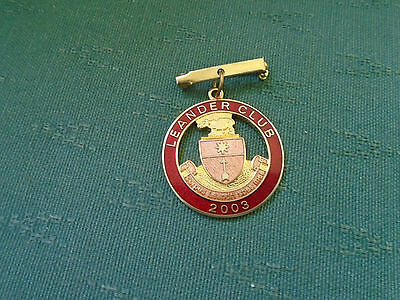 2004 - Leander Club Enamel Pin Badge = Rowing Henley On Thames