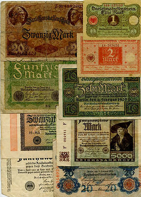Germany Set of low grade banknotes #0001155