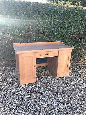 Antique Pine desk With Drawers