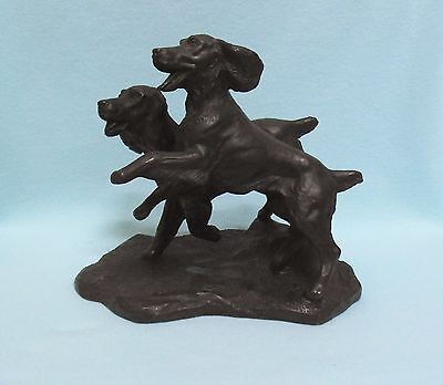 Heredities SPRINGER SPANIELS Cold cast bronze figurine Jean Spouse ornament dog