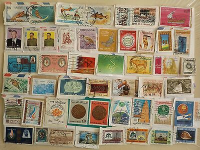 Collection of Arab Middle East stamps: ALL DIFFERENT: 38g Approx 175