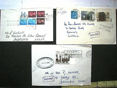 3 Paquebot Covers, Harwich. M.v Norfolk Ferry (2) / M.v. St.george +Booklet Pane