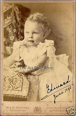 Hand Signed Edward Viii Queen Mary  Autograph Reprint