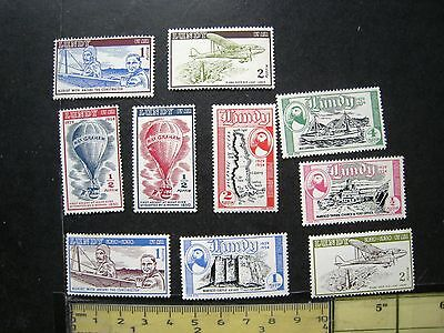 Selection Of Lundy Island Stamps 1954 Mint Unmounted