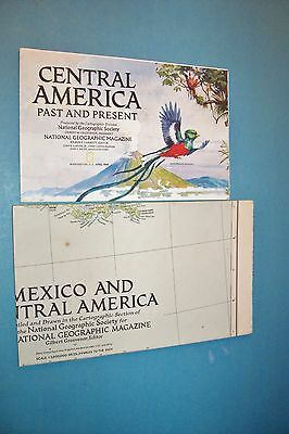 National Geographic Maps-1986 Central America / 1953 Mexico And Central America