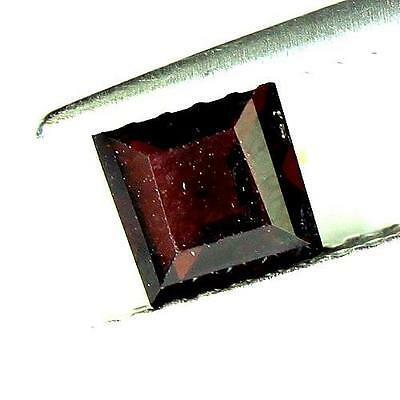 #0.60cts. 4.9 x 2.7 mm. NATURAL SQUARE RED ALMANDINE AFRICA