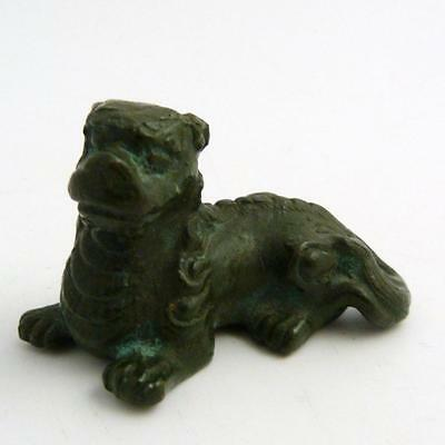 Rare Chinese Ming Dynasty Scroll Weight In The Form Of A Recumbent Temple Lion