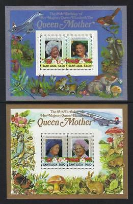 St Lucia 1985 Life & Time Of Queen Mother U/m S/s