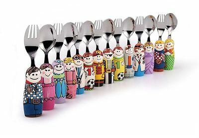 Eat4Fun Children's Fork Spoon Cutlery Set, Various Characters