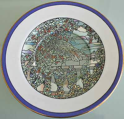 """Cockatoo's Garden Stained Glass Gardens Plate Hamilton Collection 71/2"""" (19cm)"""