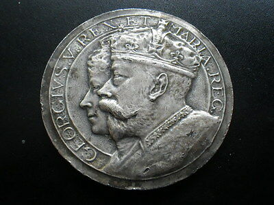 . King George V 1911 Silvered Bronze Coronation Medal by Fray, Birmingham, 50mm