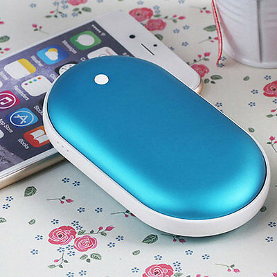 5000mAh USB Charger Pocket Electric Hand Warmer Heater Rechargeable Led Light