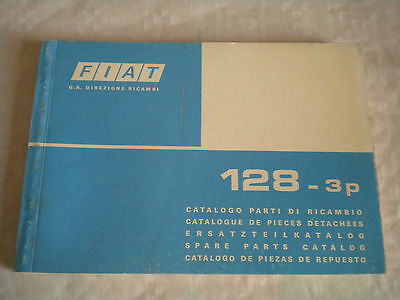 Vintage original factory parts catalogue Fiat 128 3 door 1975 1st edition