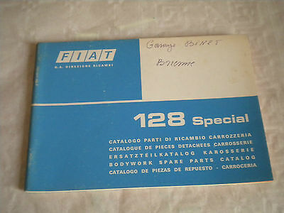 Vintage original factory Body parts catalogue Fiat 128 special 1975