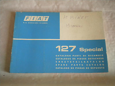 Vintage original factory parts catalogue Fiat 127 Special 1975 1st edition