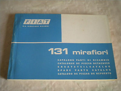 Vintage original factory parts catalogue Fiat 131 Mirafiori 1975