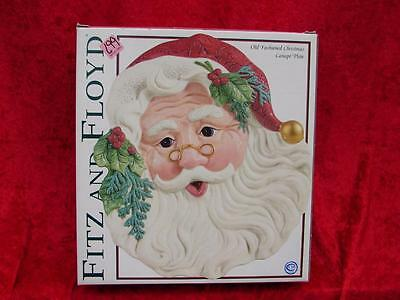 Fitz & Floyd Old Fashioned Christmas Santa Canape Plate ~ new