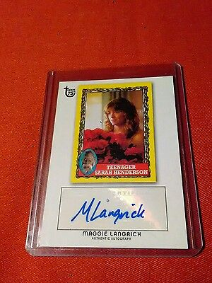 2013 Topps Gum 75th Anniversary Maggie Langrich Autographed