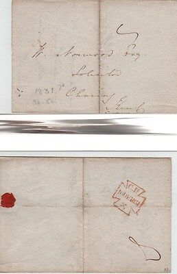 GB 1831 Wrapper  Charing cross Manu 7d Reverse CH Maltese Cross with X in Red.