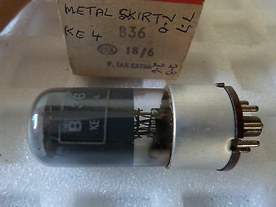 B36 Marconi Square Getter Metal Skirt Brown Ba New Old Stock Valve Tube 1Pc  O16
