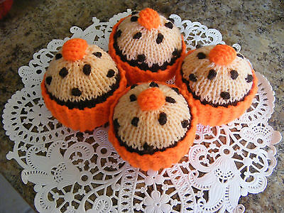 Chocolate  - Orange -  Cupcakes -  Hand Knitted Food