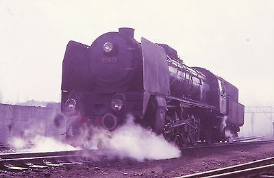ORIGINAL 35mm RAILWAY SLIDE,  POLISH STEAM LOCO, P147-33
