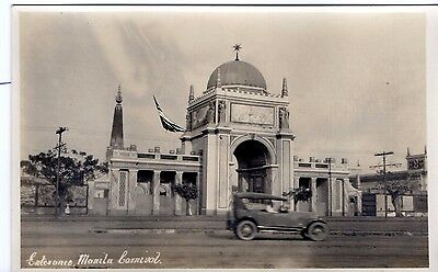 Beautiful Philippines Real photo  postcard of entrance to Manila Carnival