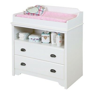 South Shore Fundy Tide Changing Table - Pure White