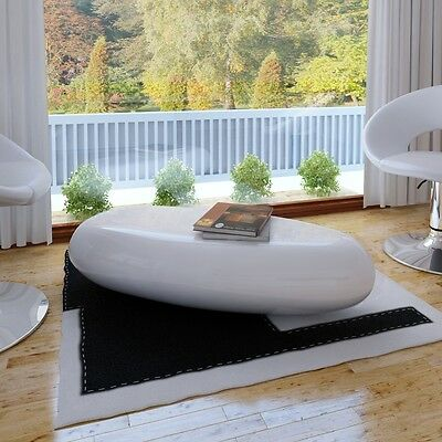 #sNEW Coffee Table Side Table Fiber Glass White High-quality High Gloss