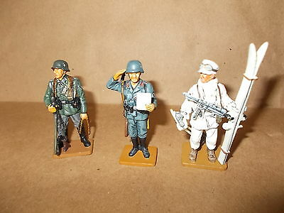 Del Prado 3 Ww11 German  Figures  Lot 1 -From The Men At War Collection