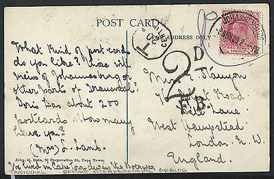 Transvaal 1909 before interprovincial period Cape of Good Hope postage due