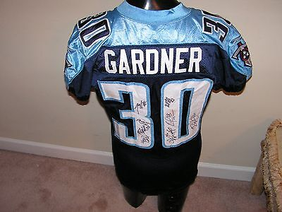 Tennessee Titans Rich Gardner Game Used Jersey Signed By 8 Titans
