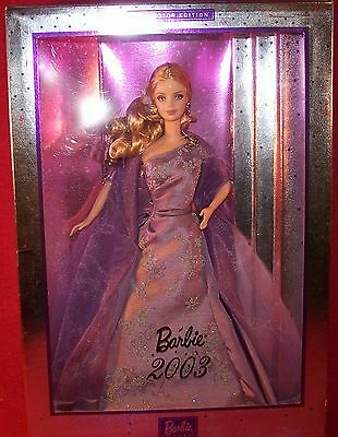 Mattel Barbie 2003 Beautiful Purple Studded Gown Collector Edition NRFB MIB