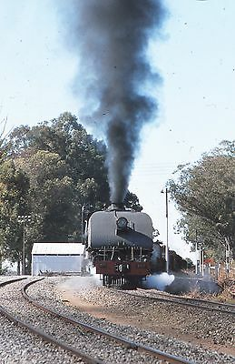 ORIGINAL 35mm RAILWAY SLIDE, ZIMBABWE STEAM LOCOMOTIVE,  Loco 396