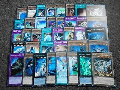 38  different Yu-gi-oh cards including 8 rare