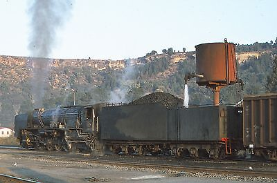 ORIGINAL 35mm RAILWAY SLIDE, SOUTH AFRICA STEAM LOCOMOTIVE,  (Ref SA201)