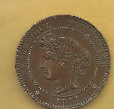 France 10 Centimes  1897A
