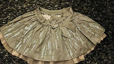 next girls skirt age 3. Silver sequins and pink mesh party