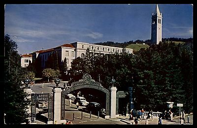 Sather Gate University of California Color Card Picture Postcard
