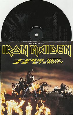 """IRON MAIDEN From Here to Eternity 7""""45 giri UK 1992 Etched Disc"""