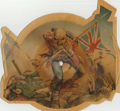 """IRON MAIDEN The Trooper 7""""45 giri UK 1983 Shaped Picture Disc"""