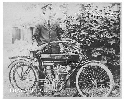 Early 1909 Curtiss Motorcycle early American photo motorcycle aviation vintage